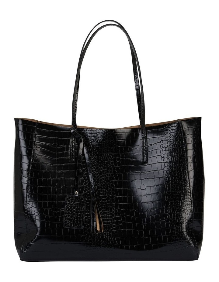 H-Bobbi Black Croc Handbag image 1