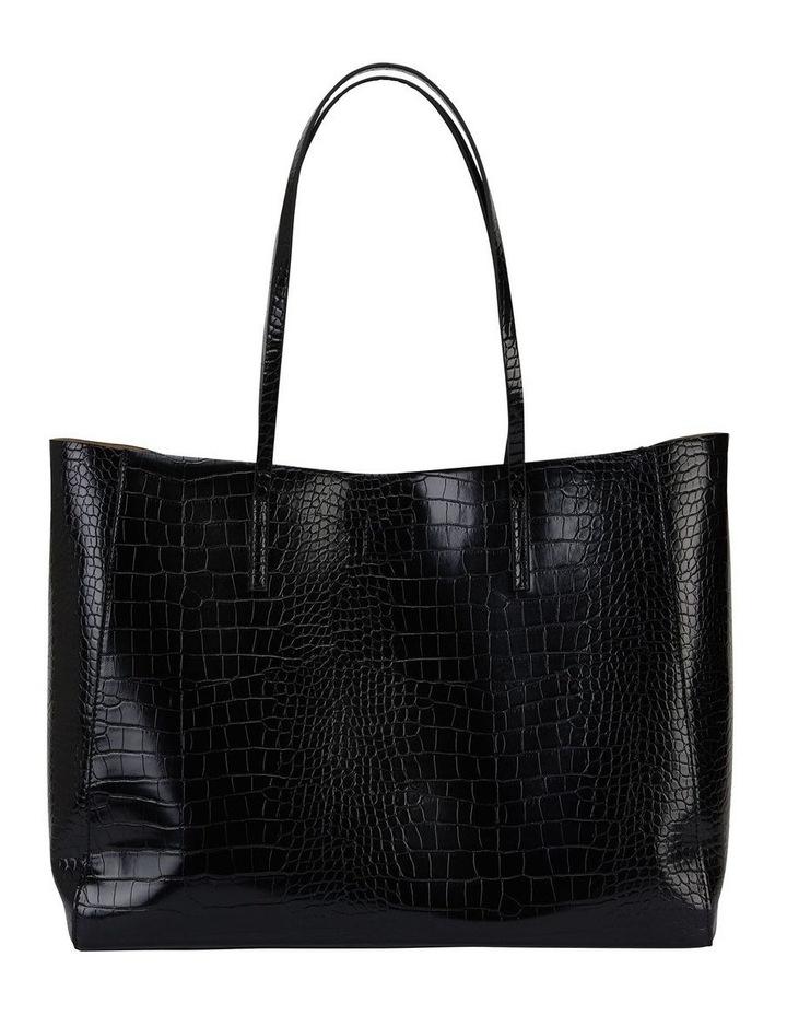 H-Bobbi Black Croc Handbag image 2