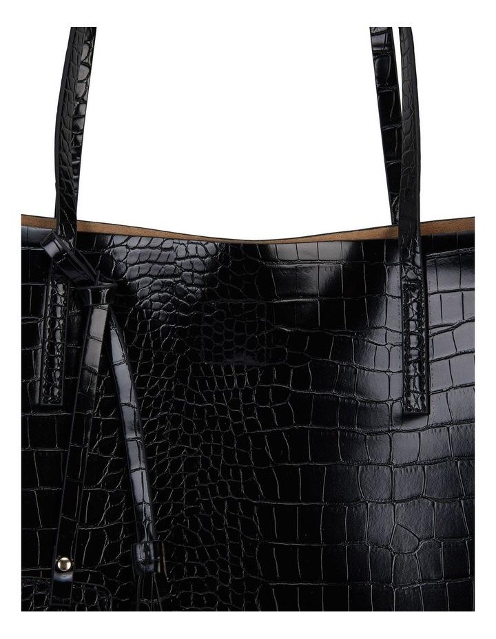 H-Bobbi Black Croc Handbag image 3
