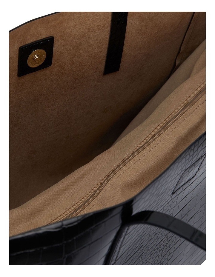 H-Bobbi Black Croc Handbag image 4
