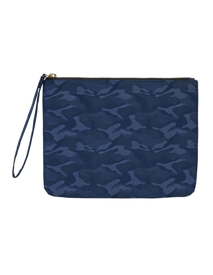 H-Lilly Blue Camouflage Clutch image 1