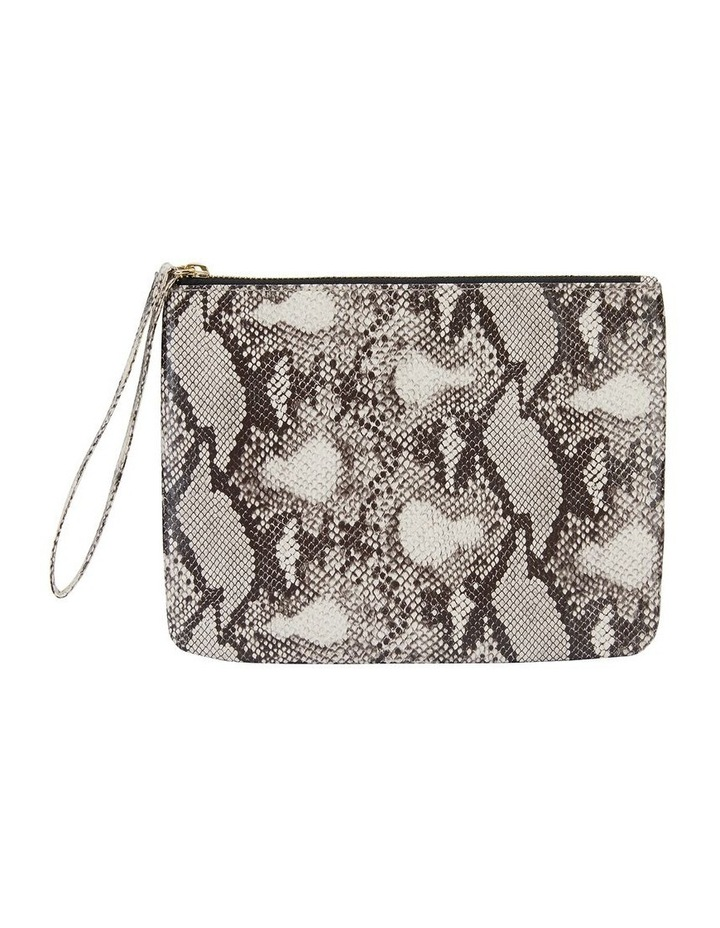 H-Lilly Snake Print Clutch image 1