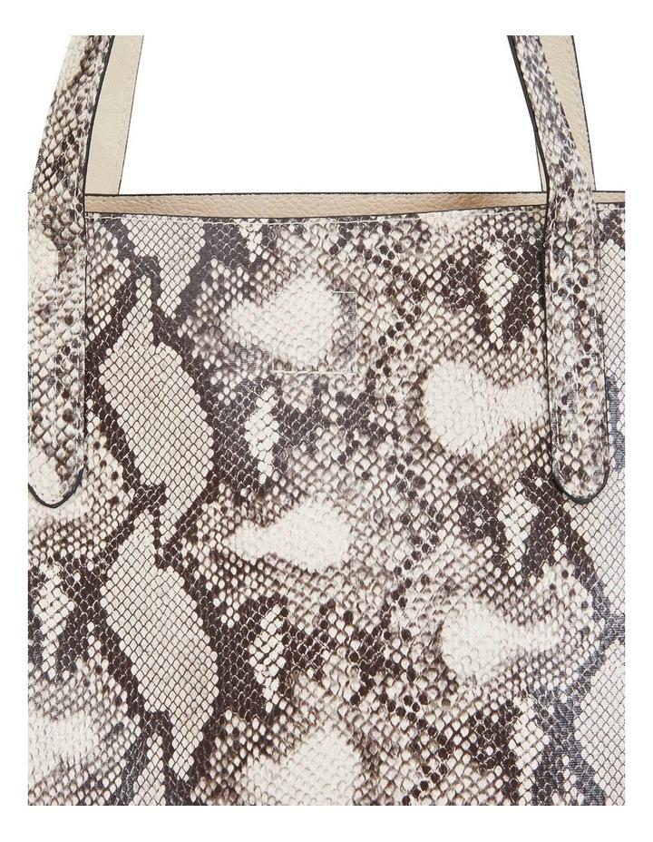 H-Charlie Snake Print Handbag image 3