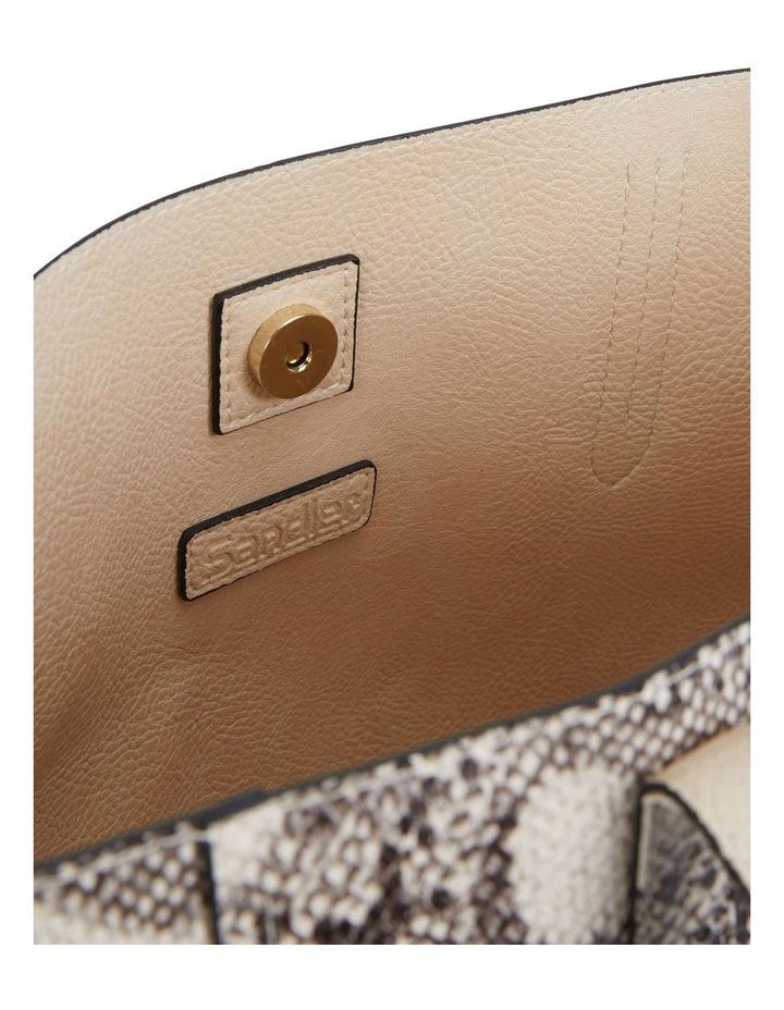 H-Charlie Snake Print Handbag image 4