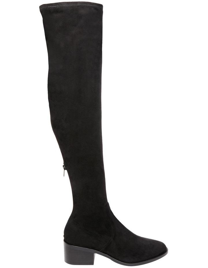 Georgette Black Knee High Heeled Boot image 1