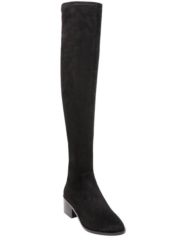Georgette Black Knee High Heeled Boot image 2