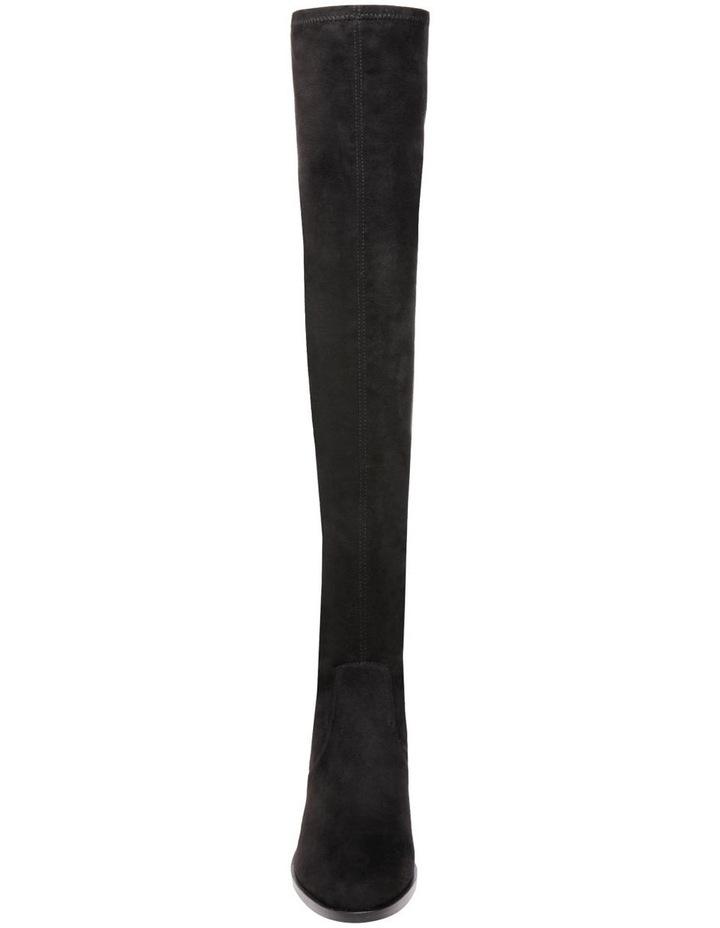 Georgette Black Knee High Heeled Boot image 3