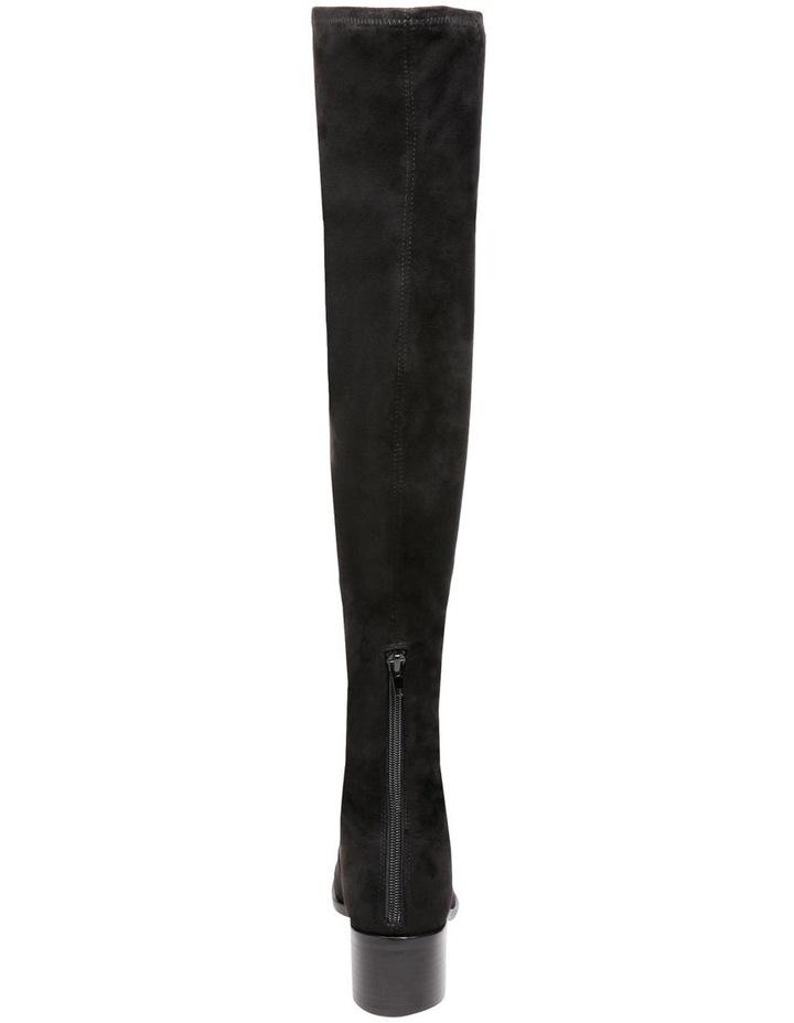 Georgette Black Knee High Heeled Boot image 4