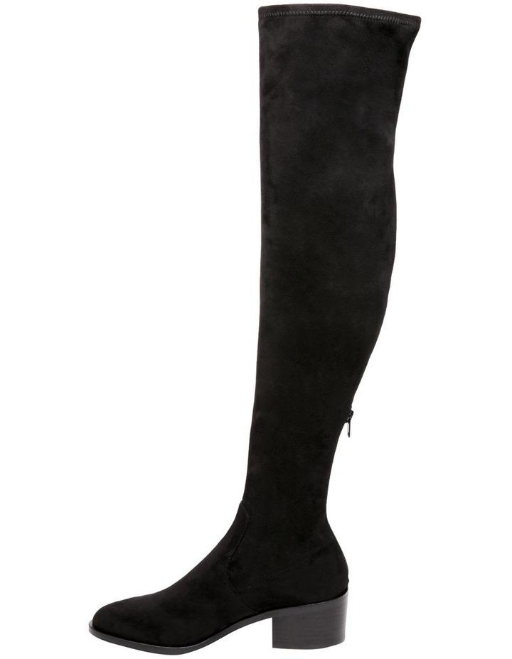 Georgette Black Knee High Heeled Boot image 5