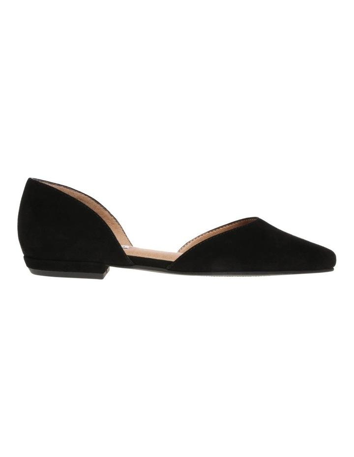 Gliss Black Suede Flat Shoe image 1