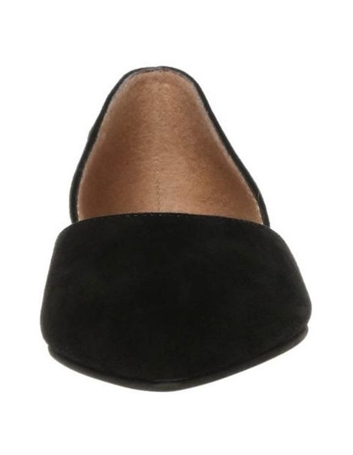 Gliss Black Suede Flat Shoe image 3