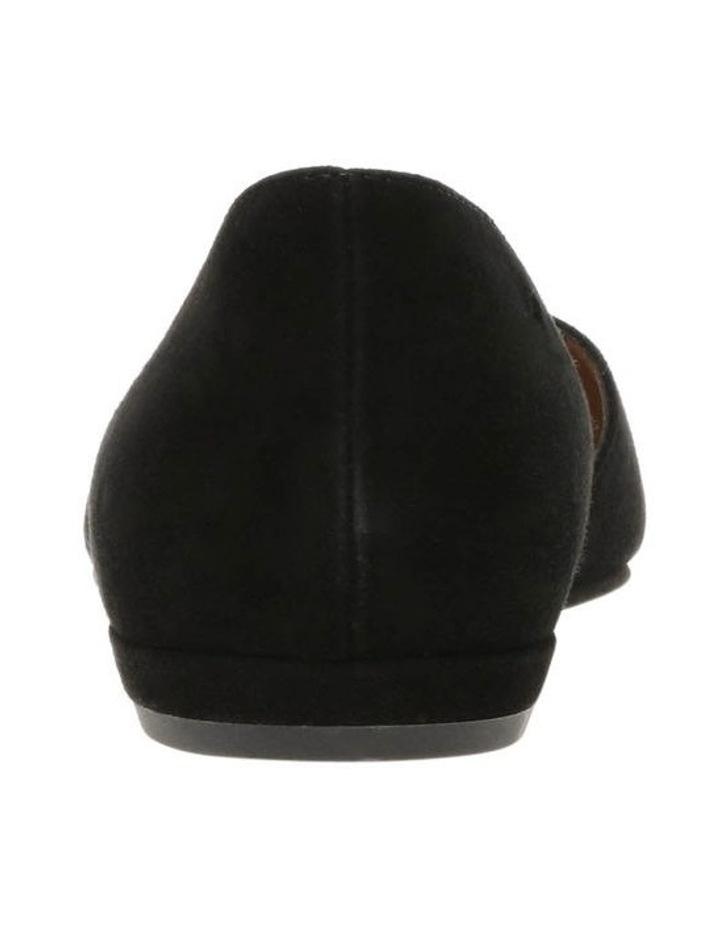 Gliss Black Suede Flat Shoe image 4