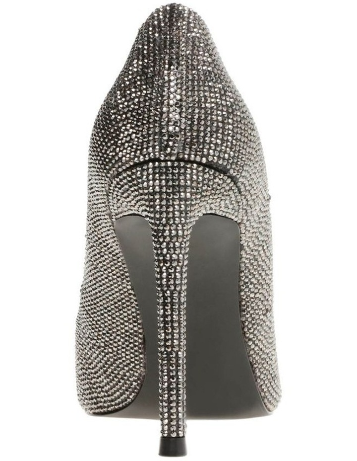 Vala-R Black Crystal Heeled Shoe image 3