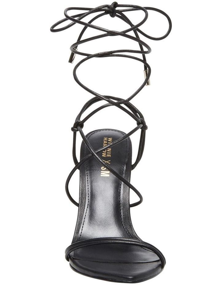 Princess Black Croco Heeled Shoe image 2