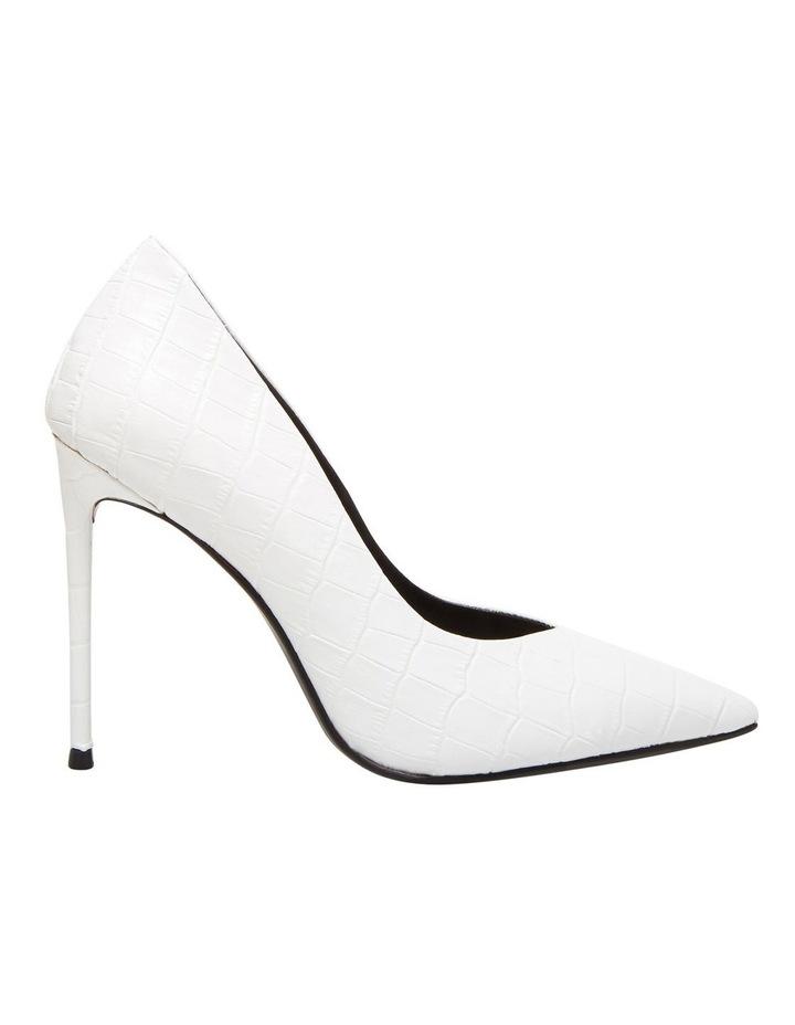 Princess White Croco Heeled Shoe image 1