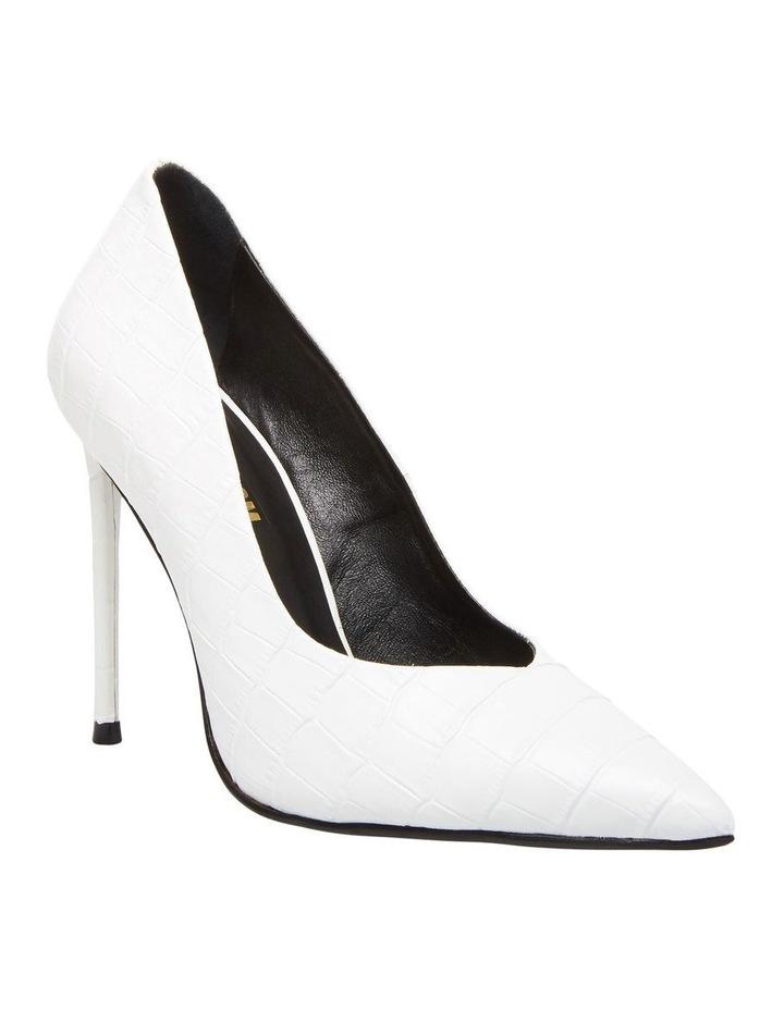 Princess White Croco Heeled Shoe image 2