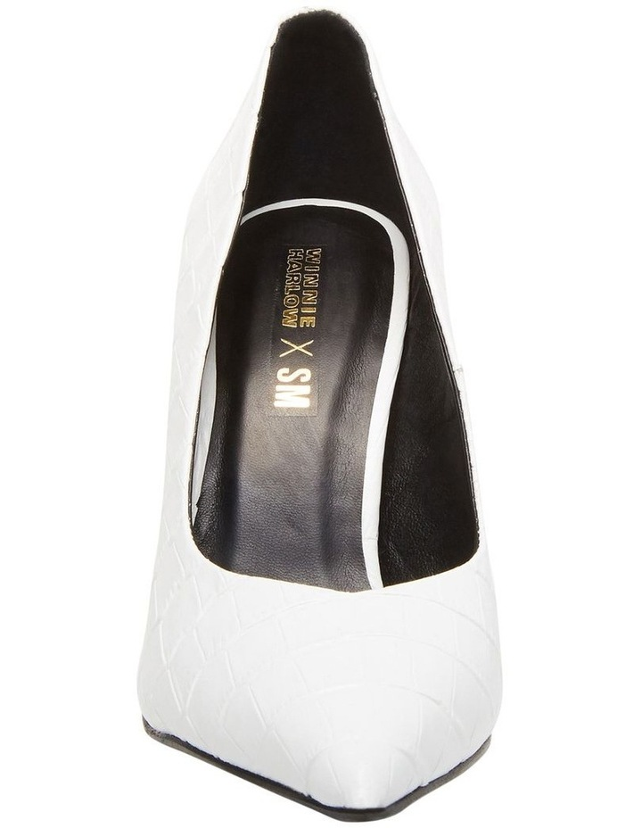 Princess White Croco Heeled Shoe image 3