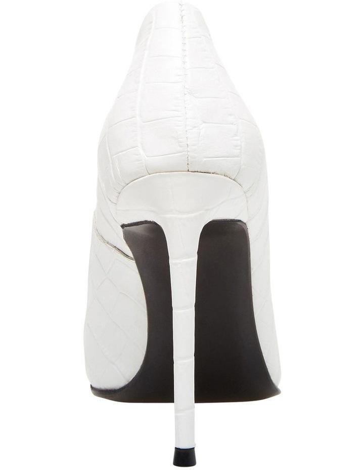 Princess White Croco Heeled Shoe image 4