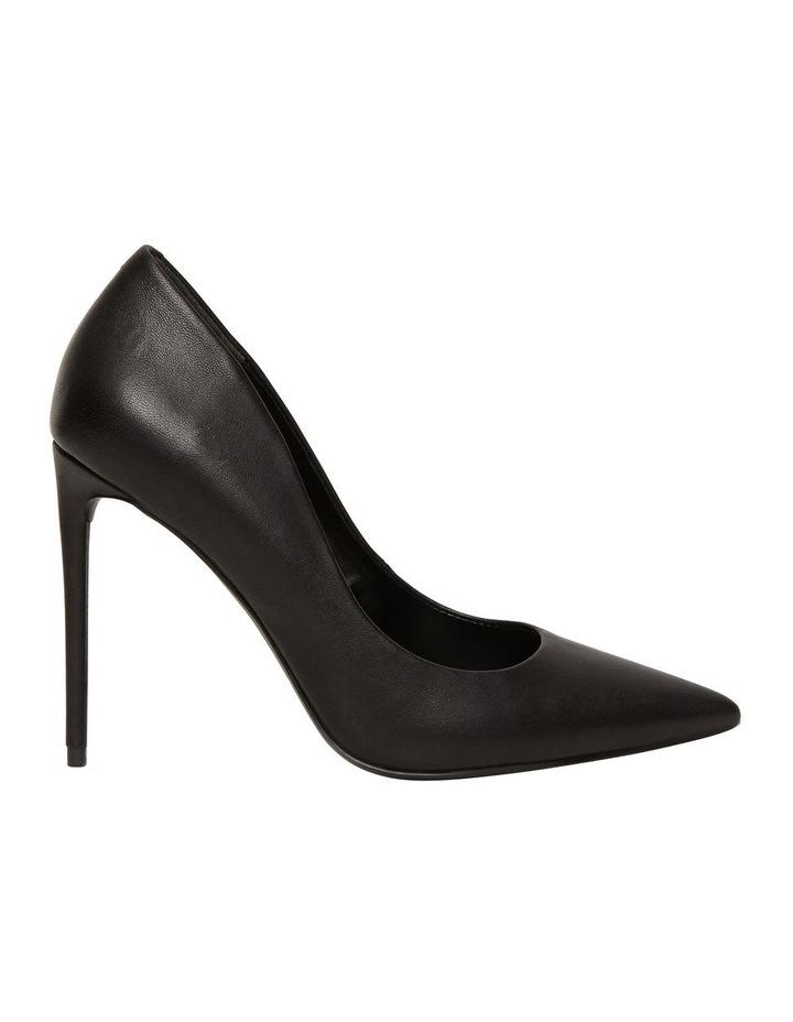Vala Black Leather Heeled Shoes image 3
