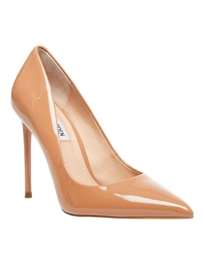 Vala Camel Patent Heeled Shoes image 1