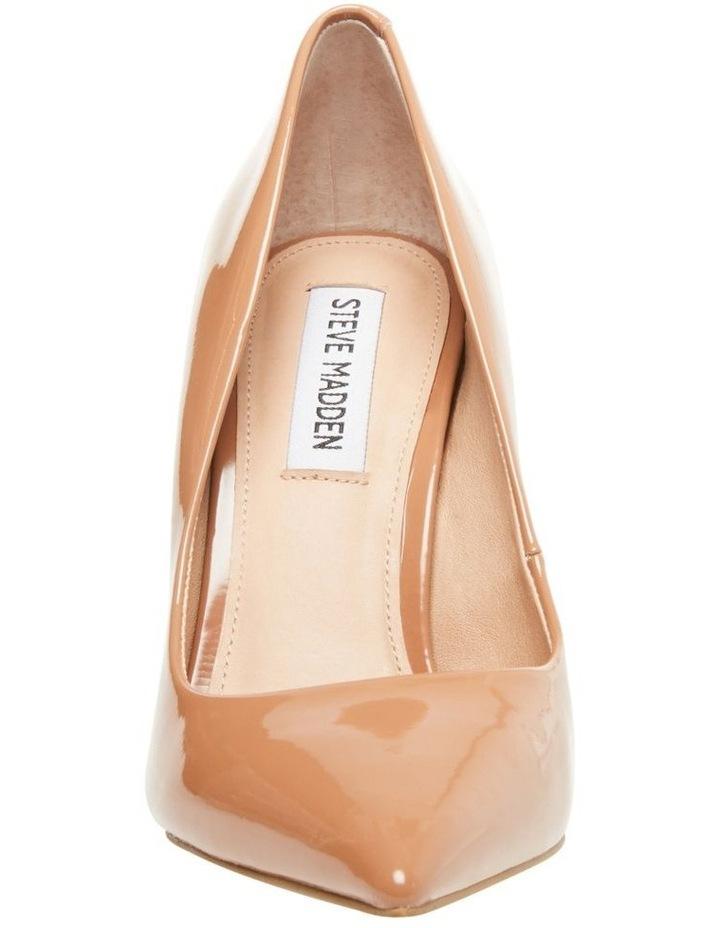 Vala Camel Patent Heeled Shoes image 3