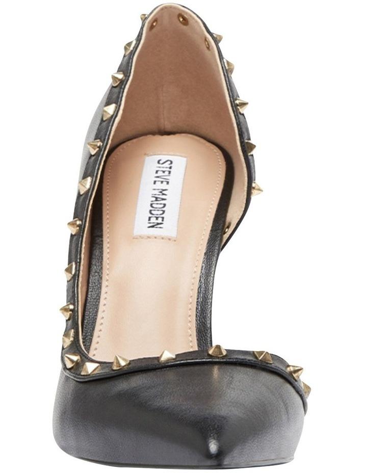 Viyana Black Leather Heeled Shoes image 3