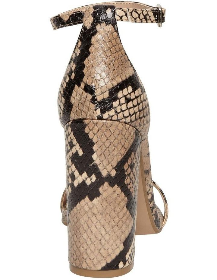 Carrson Tan Snake Sandal image 3