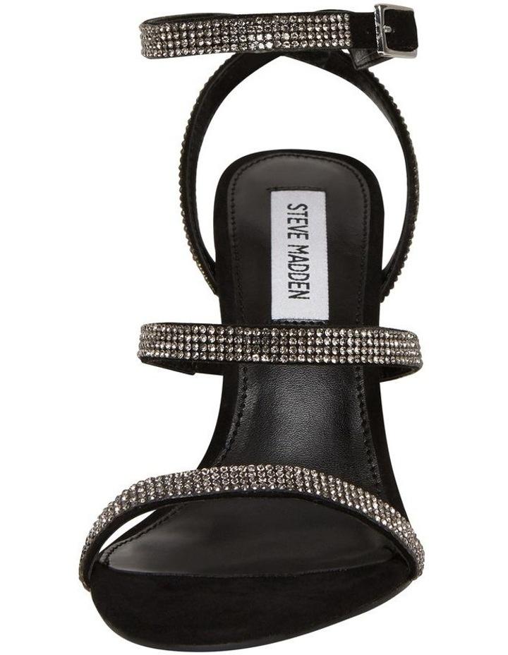 Equal Black Crystal Sandal image 3