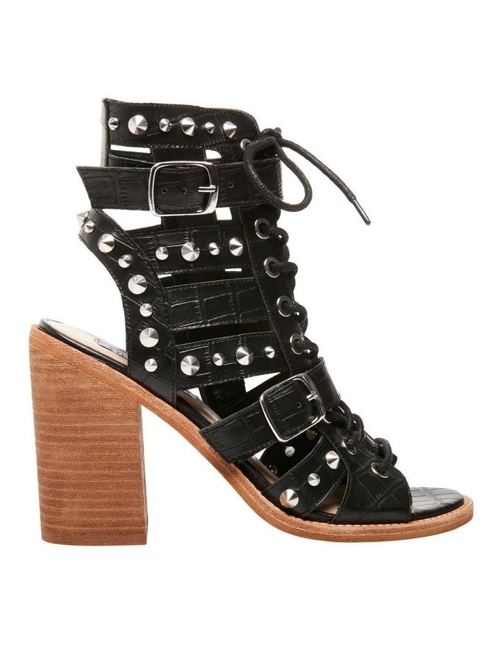 Cecilia-S Black Croco Sandal image 1
