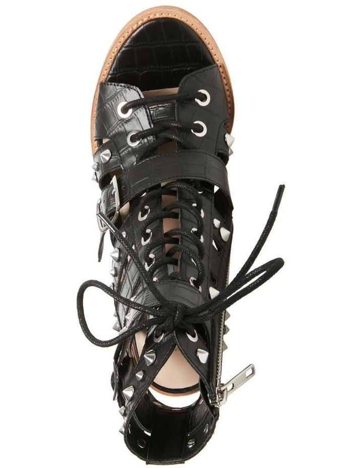 Cecilia-S Black Croco Sandal image 4
