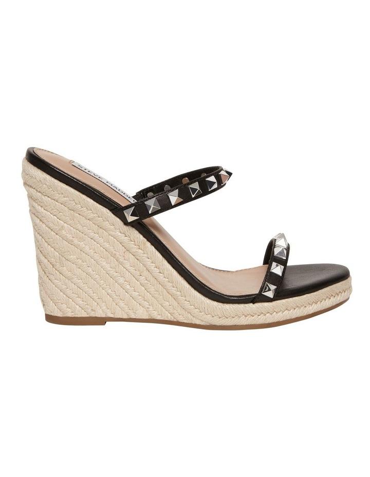 Mabil Black Leather Wedge Sandal image 1