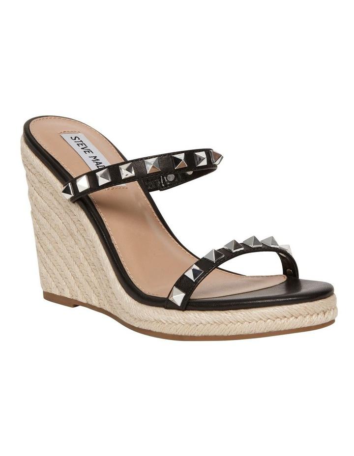 Mabil Black Leather Wedge Sandal image 2