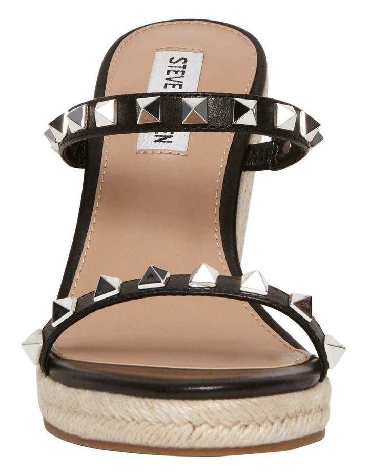 Mabil Black Leather Wedge Sandal image 3