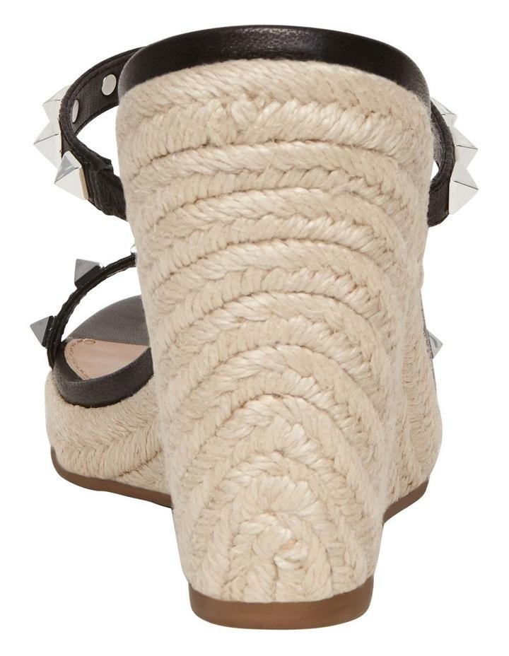 Mabil Black Leather Wedge Sandal image 5