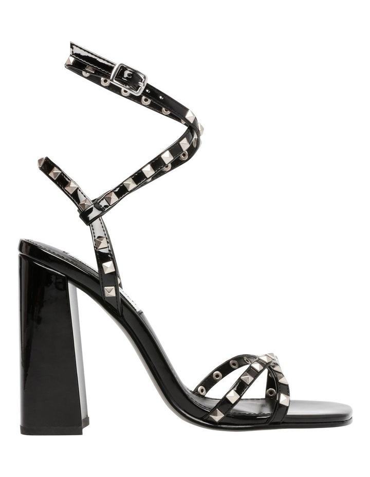 Stazie Blk Patent Heeled Sandal image 1