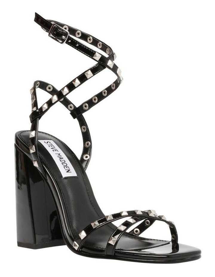 Stazie Blk Patent Heeled Sandal image 3
