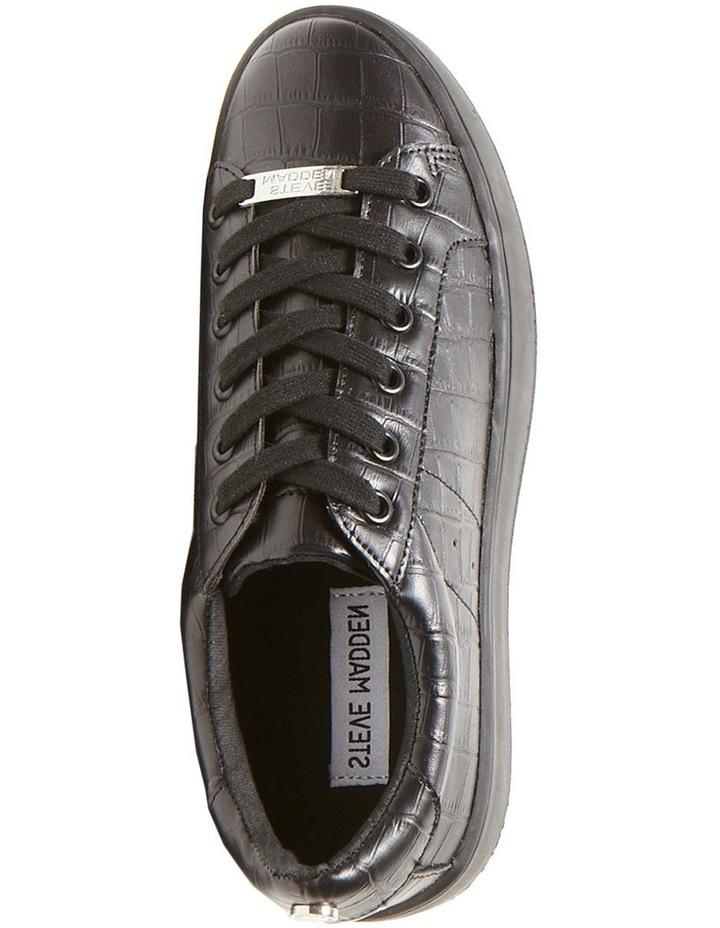 Bertie Black Croco Sneaker image 2
