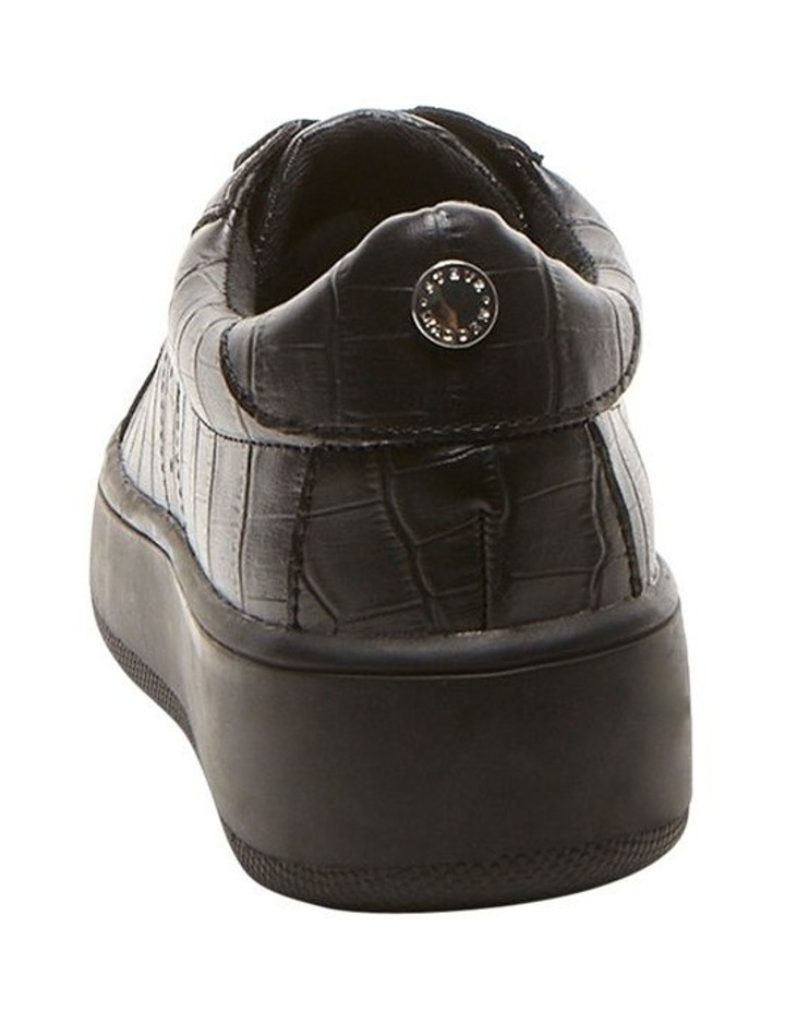 Bertie Black Croco Sneaker image 3