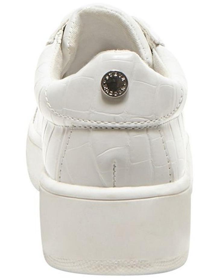 Bertie White Croco Sneaker image 4