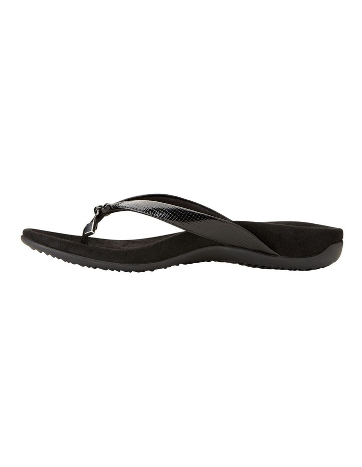 Bella Black Lizard Sandal image 3