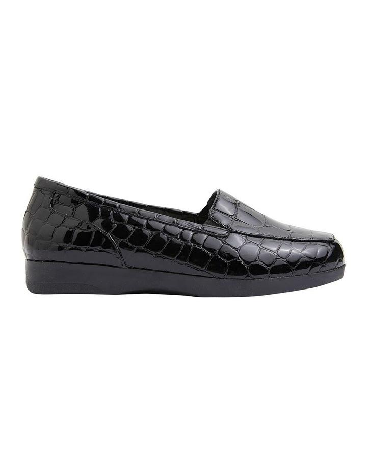 Verse Black Patent Croc Flat Shoes image 1