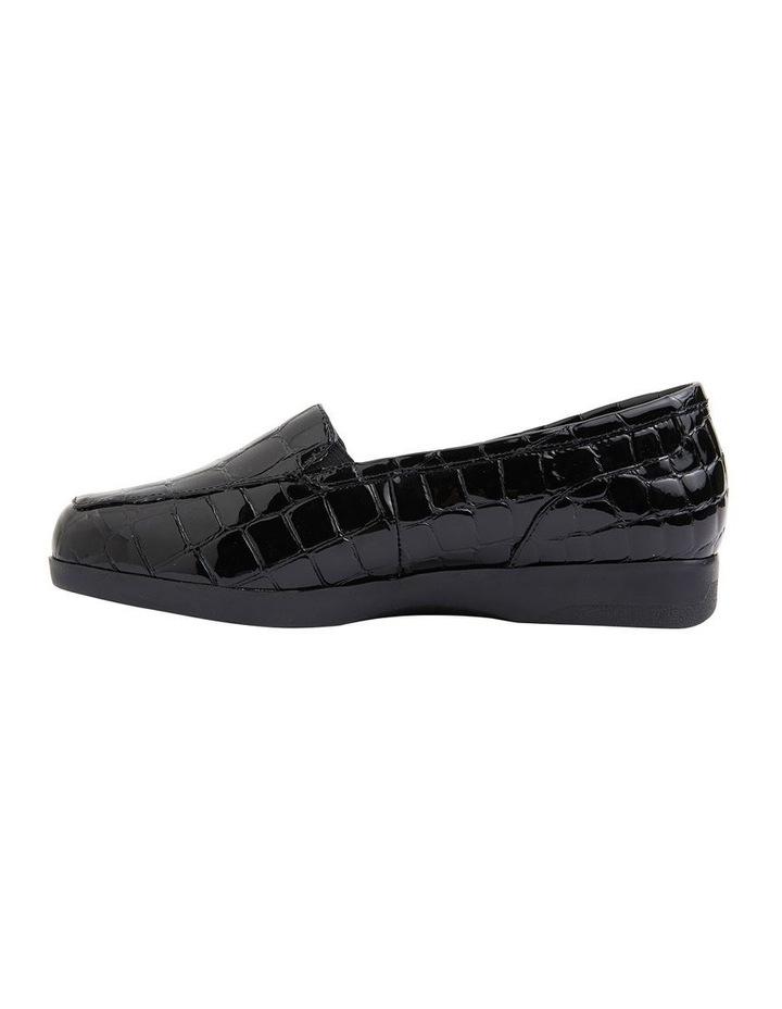 Verse Black Patent Croc Flat Shoes image 3