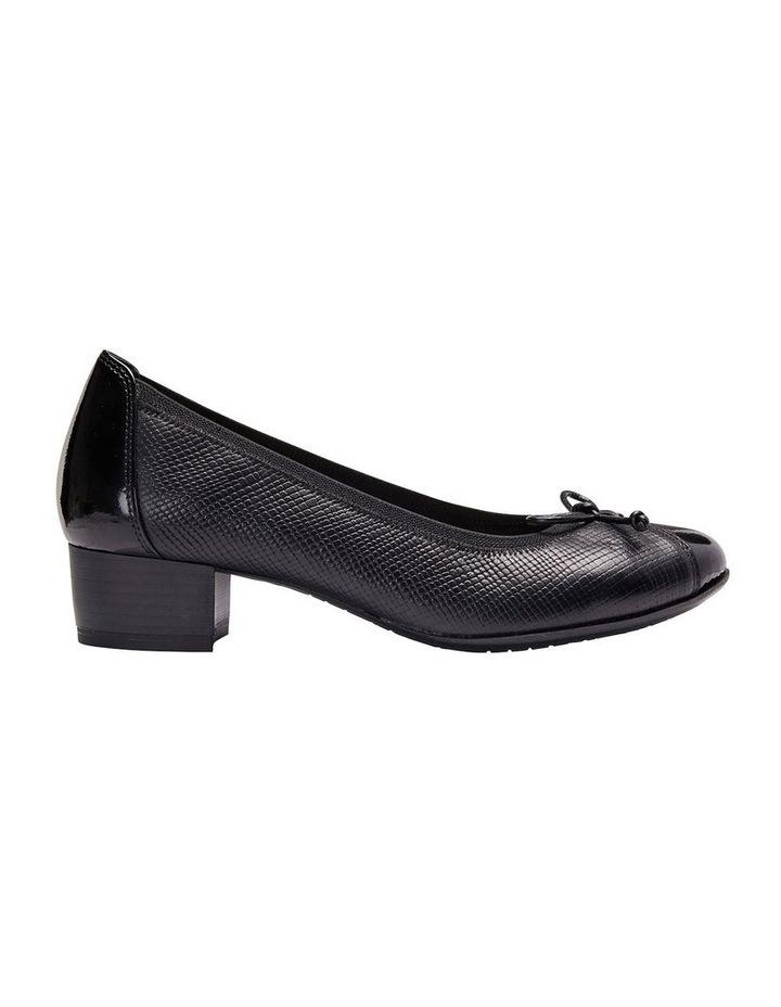 Grace Black Patent /Print Heeled Shoes image 1