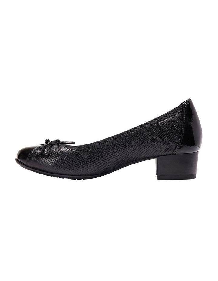 Grace Black Patent /Print Heeled Shoes image 3