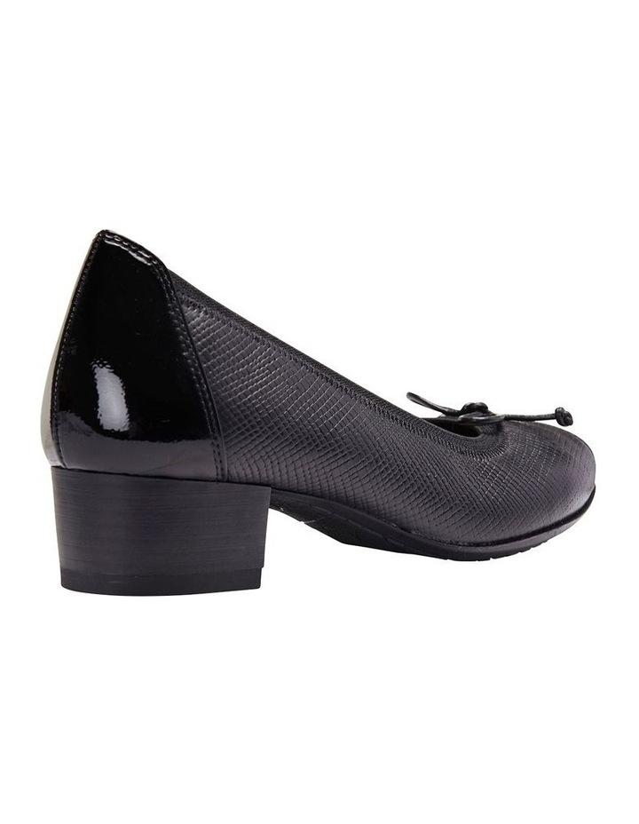 Grace Black Patent /Print Heeled Shoes image 5