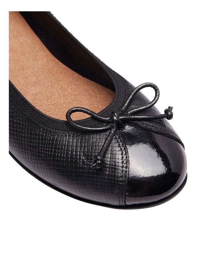 Grace Black Patent /Print Heeled Shoes image 6