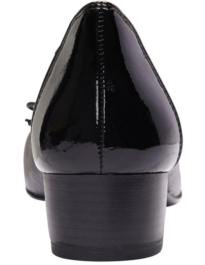 Grace Black Patent /Print Heeled Shoes image 7