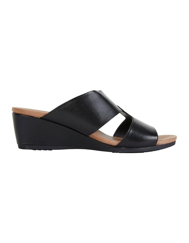 Wide Steps Melanie Black Glove Sandals