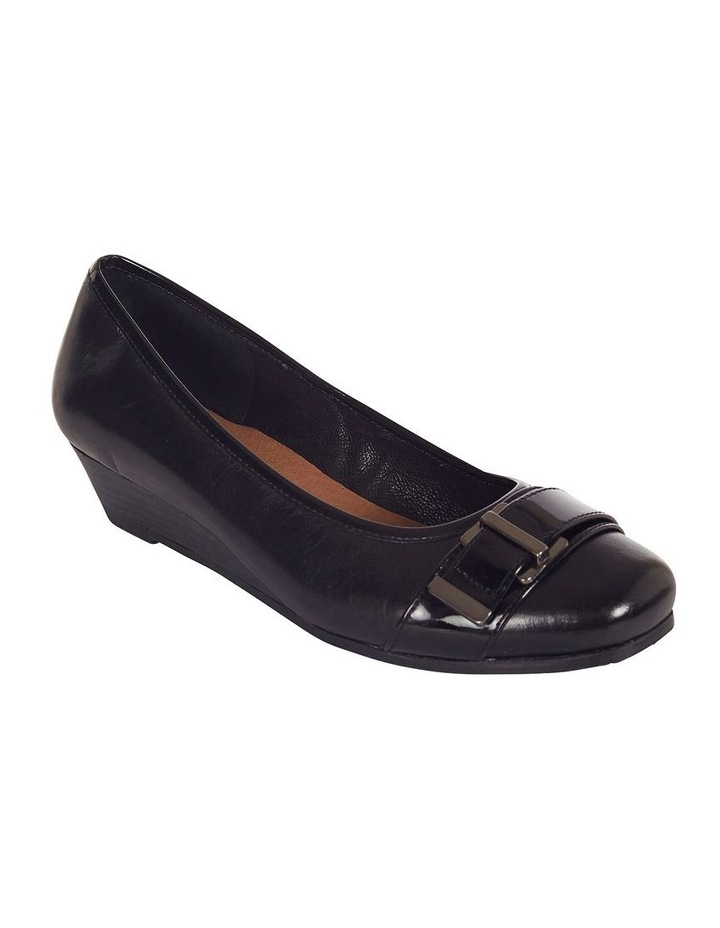Napier Black Glove/Patent Heeled Shoes image 2
