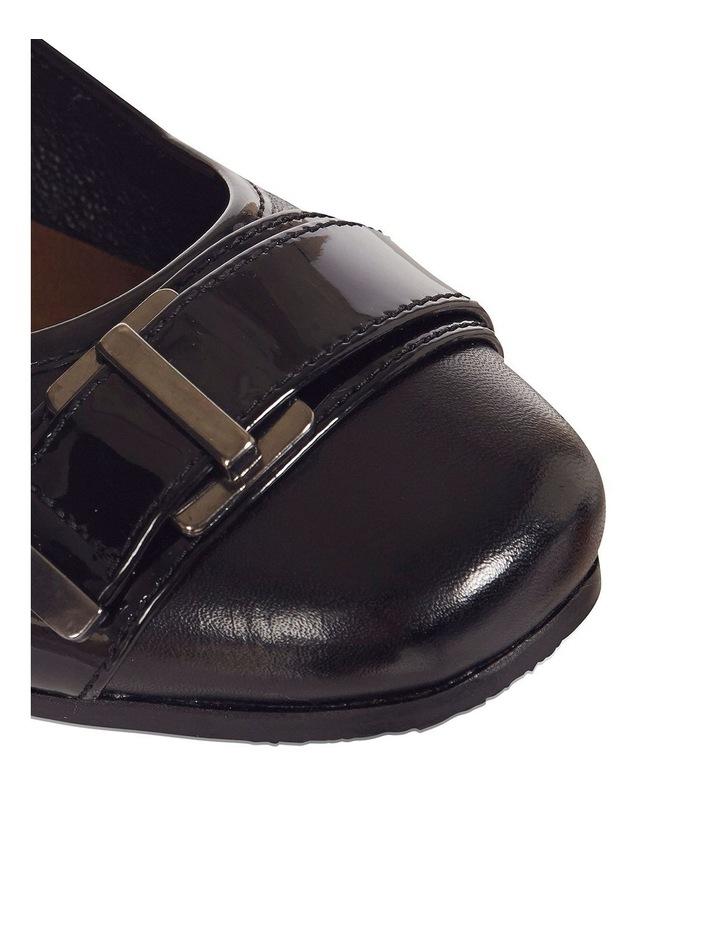 Napier Black Glove/Patent Heeled Shoes image 4